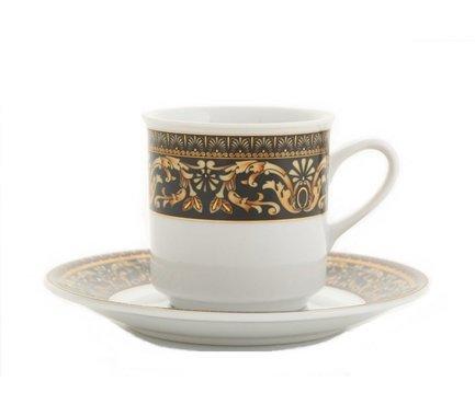 Набор чашек Сабина Версаче Классик (0.15 л) с блюдцем, 6 шт.Чашки и Кружки<br>Отличный набор высоких чашек для чая и кофе, рассчитанный на 6 персон. Удобные фарфоровые чашки прекрасно подходят для горячих ароматных напитков, а блюдца изящно дополнят выполненную со вкусом сервировку стола.<br><br>Серия: Сабина Версаче Классик<br>Состав: Чашки (0.2 л) - 6 шт., Блюдца - 6 шт.