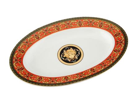 Блюдо для гарнира овальное Сабина Красная лента, 22 см