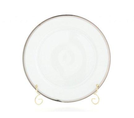 Блюдо круглое Сабина Изящная платина, мелкое, 30 см