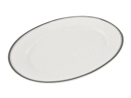 Блюдо овальное Сабина Изящная платина, 39 смПодносы и Блюда<br>Вместительное овальное блюдо прекрасно подходит для сервировки вторых блюд. Аккуратно уложенные овощи, мясо или птица на этом элегантном блюде выглядят еще аппетитнее и вкуснее.<br><br>Серия: Сабина Изящная платина