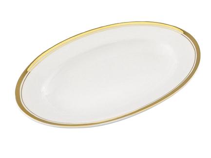 Блюдо для гарнира Сабина Изящное золото, овальное, 22 смПодносы и Блюда<br>Это компактное красивое блюдо предназначено для подачи гарнира. Овальное блюдо с изящным декором эффектно впишется в сервировку любого стола.<br><br>Серия: Сабина Изящное золото