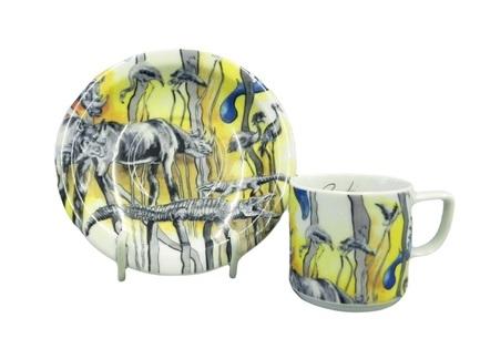 Чашка с блюдцем Сабина Сафари (0.1 л)Чашки и Кружки<br>Эта изящная чашечка с блюдцем, украшенная забавными яркими рисунками, обязательно понравится детям. Ребенок с удовольствием выпьет чай или какао из такой красивой чашки.<br><br>Серия: Сабина Сафари