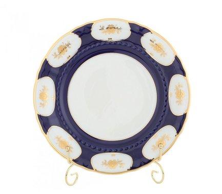 Набор тарелок мелких Соната Темно-синий орнамент с золотом, 25 см, 6 шт.Тарелки и Блюдца<br>Изящные обеденные тарелки прекрасно впишутся в сервировку любого стола. Тарелки идеально подходят для подачи второго блюда: гарнира и горячего на 6 персон.<br><br>Серия: Соната Темно-синий орнамент с золотом