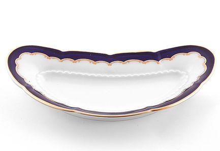 Блюдо для костей Соната Темно-синяя окантовка с золотомПодносы и Блюда<br>Это элегантное блюдо для костей – потрясающе красивый и очень удобный предмет посуды. Это вместительное всегда пригодится для аккуратной и гармоничной сервировки стола.<br><br>Серия: Соната Темно-синяя окантовка с золотом
