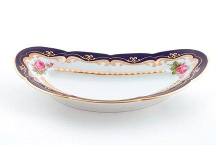 Блюдо для костей Соната Темно-синий орнамент с розамиПодносы и Блюда<br>Это элегантное блюдо для костей – потрясающе красивый и очень удобный предмет посуды. Это вместительное всегда пригодится для аккуратной и гармоничной сервировки стола.<br><br>Серия: Соната Темно-синий орнамент с розами
