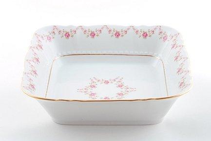 Салатник квадратный Соната Розовая нить, 21 см