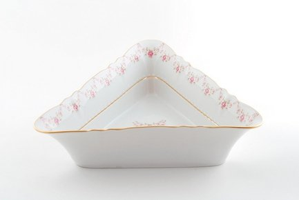 Салатник треугольный Соната Розовая нить, 21 см