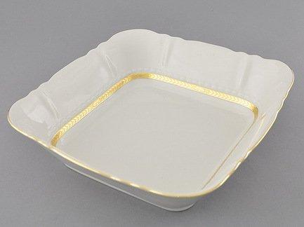 Салатник квадратный Соната Изящное золото, 21х21 см