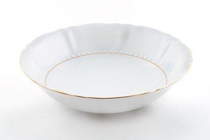 Салатник круглый Соната Тонкое золото, 26 смСалатницы, Супницы<br>Вместительный салатник идеально подходит для подачи общего салата, который гости будут накладывать в свои тарелки. Этот салатник прекрасно впишется в сервировку и домашнего обеда и торжественного стола.<br><br>Серия: Соната Тонкое золото