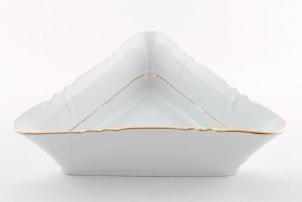Салатник треугольный Соната Тонкое золото, 17 см