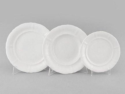 Набор тарелок Соната Белоснежная классика, 18 пр.Тарелки и Блюдца<br>Эти изящные тарелки помогут сервировать стол к обеду с отменным вкусом и неповторимым стилем. Набор рассчитан на 6 персон и состоит из суповых, обеденных и десертных тарелок.<br><br>Серия: Соната Белоснежная классика<br>Состав: Тарелка суповая - 6 шт., Тарелка обеденная - 6 шт., Тарелка десертная, 19 см - 6 шт.