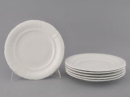 Набор тарелок мелких Соната Белоснежная классика, 25 см, 6 шт.