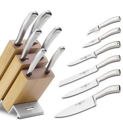 Набор ножей Culinar, 6 пр.Наборы ножей<br>Незаменимый помощник на кухне – набор ножей. Учитывающий индивидуальные потребности повара, профессионально составленный набор обладает неограниченным сроком службы. Отменное качество, удобные рукояти и солидный ассортимент в состоянии удовлетворить самых взыскательных покупателей.<br><br>Серия: Culinar<br>Состав: нож для чистки 7 см. Артикул 4029 WUS, нож для чистки и резки овощей 9 см. Артикул 4039/9 WUS, нож для хлеба 20 см. Артикул 4159 WUS, нож для резки мяса 20 см. Артикул 4529/20 WUS, нож столовый 20...