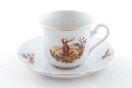 Набор чашек высоких Мэри-Энн Лесная сказка (0.2 л) с блюдцами, 6 шт.Чашки и Кружки<br>Отличный набор для чая и кофе, рассчитанный на 6 персон. Удобные фарфоровые чашки прекрасно подходят для горячих ароматных напитков, а блюдца изящно дополнят выполненную со вкусом сервировку стола.<br><br>Серия: Мэри-Энн Лесная сказка