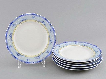 Набор тарелок мелких Мэри-Энн Нежные цветы, 25 см, 6 шт.Тарелки и Блюдца<br>Изящные обеденные тарелки прекрасно впишутся в сервировку любого стола. Тарелки идеально подходят для подачи второго блюда: гарнира и горячего на 6 персон.<br><br>Серия: Мэри-Энн Нежные цветы