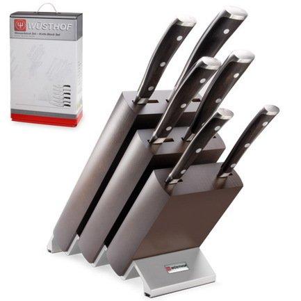 Набор кухонных ножей Ikon, 6 шт., на деревянной подставке