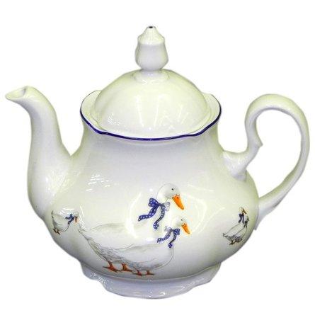 Чайник Мэри-Энн Кантри (1.2 л)Заварочные чайники и Кофейники<br>Удобный фарфоровый чайник для любимых напитков. В нем можно подавать к столу чай или кофе. Элегантный чайник прекрасно дополнит сервировку чаепития или десертного стола.<br><br>Серия: Мэри-Энн Кантри