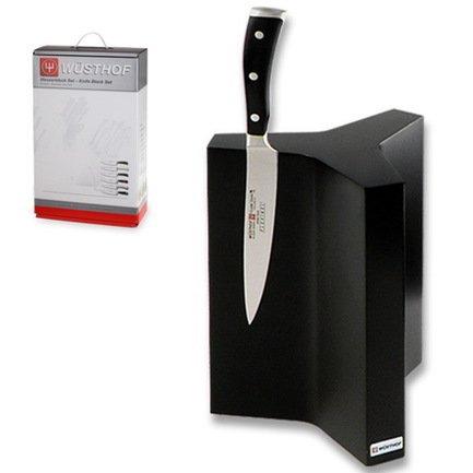 Подставка под 6 ножей, магнитная, чернаяМагнитные держатели, Подставки для ножей<br>Подставка - идеальное место для хранения Ваших ножей, потому что она удовлетворяет определенным требованиям: безопасность, защита лезвия, чистота и комфорт.<br><br>Серия: Knife blocks