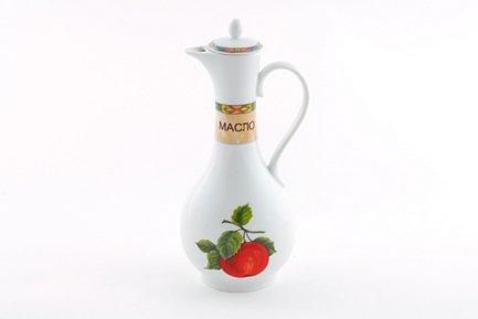 Емкость для масла Мэри-Энн Фруктовые сады (0.25 л)Бутылки для Масла и Уксуса<br>Изящная емкость для растительного масла прекрасно впишется в сервировку стола. В этой элегантной емкости с удобным носиком, крышкой и миниатюрной ручкой можно хранить и подавать масло к столу<br><br>Серия: Мэри-Энн Фруктовые сады