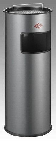 Мусорный контейнер-пепельница (30 л), серебро (150601-03)Мусорные баки<br>Практичный и стильный контейнер-пепельница может использоваться как внутри помещений, так и на улице.<br><br>Серия: Ashtray