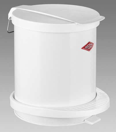 Мусорный контейнер с педалью (5 л), белый (117749)