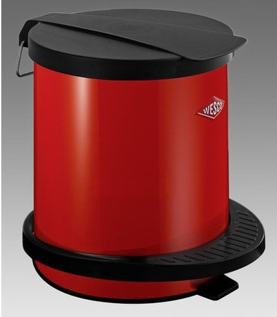 Мусорный контейнер с педалью (5 л), красный (117750)