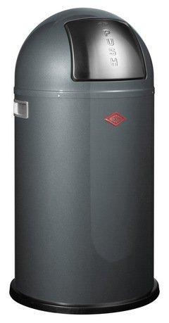 Мусорный контейнер Pushboy (50 л), графит (117573)Мусорные баки<br>Этот элегантный и вместительный мусорный контейнер отличается стильным исполнением, потрясающим удобством в использовании, надежностью и долговечностью. Корпус контейнера выполнен из высококачественной нержавеющей стали, покрытой стойкой краской. Внутреннее мусорное ведро изготовлено из гальванизированной огнестойкой стали и снабжено плотным резиновым кольцом для надежной фиксации мусорных мешков. На корпусе есть большая и удобная кнопка с надписью Push, при нажатии на которую легко открывается крышка контейнера. Этот контейнер большого объема прекрасно впишется в интерьер дома, где проживает большая семья, а также бара, ресторана или кафе.<br><br>Серия: Pushboy