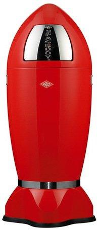 Мусорный контейнер Spaceboys XL (35 л), красный (117606)Мусорные баки<br>Этот оригинальный мусорный контейнер необычного дизайна и эффектной расцветки прекрасно подходит для современного интерьера. Корпус контейнера выполнен из высококачественной нержавеющей стали, покрытой стойкой краской. Внутреннее конусообразное ведро изготовлено из гальванизированной огнестойкой стали и снабжено плотным резиновым кольцом для надежной фиксации мусорных мешков.<br><br>Серия: Spaceboys XL