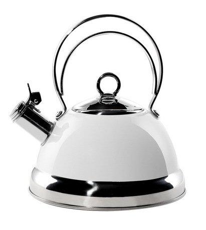 Чайник (2.75 л), белый (340520-01)Чайники<br>Стильный вместительный чайник из стали, покрытой термостойким лаком белого цвета, предназначен для кипячения воды.<br><br>Серия: Kettle Wesco