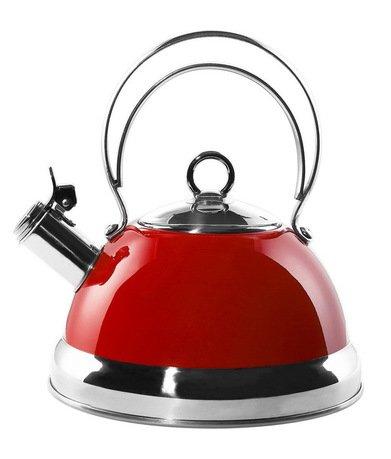 Чайник (2.75 л), красный (340520-02)Чайники<br>Стильный вместительный чайник из стали, покрытой термостойким лаком красного цвета, предназначен для кипячения воды.<br><br>Серия: Kettle Wesco