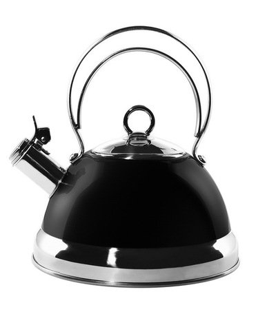 Чайник (2.75 л), черный (340520-62)Чайники<br>Стильный вместительный чайник из стали, покрытой термостойким лаком черного цвета, предназначен для кипячения воды.<br><br>Серия: Kettle Wesco