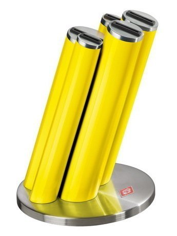 Подставка для ножей Pipe, желтая Wesco 322681-19
