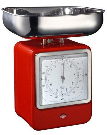 Кухонные весы-часы Retro Style, 322204-02, красные (322204-02) Wesco