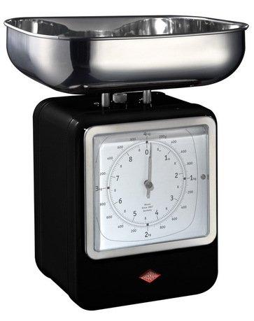 Кухонные весы-часы Retro Style, 322204-62, черные (322204-62)Весы кухонные<br>Этот необычный кухонный аксессуар сочетает в себе несколько функций: с одной стороны расположен дисплей весов, чаша которых изготовлена из высококачественной хромированной стали, а с другой - часы, выполненные в стиле ретро. Стильный и практичный предмет интерьера украсит вашу кухню и пригодится, если нужно взвесить продукты.     Характеристики:   Максимальный вес: 4 кг  Питание: 2 батарейки типа АА  Размеры (ДхШхВ): 13х15х27 см.<br><br>Серия: Retro Style