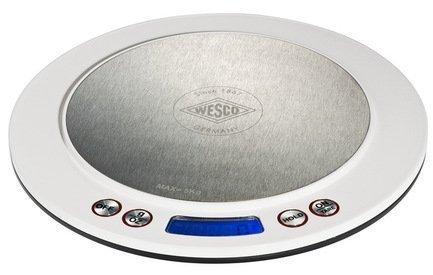 Кухонные сенсорные весы, 20 см, 322251-01, белые (117714)