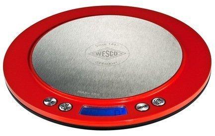 Кухонные сенсорные весы, 20 см, красные (117715)