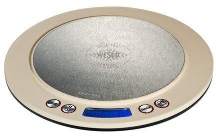 Кухонные сенсорные весы, 20 см, слоновая кость (322251-23)