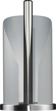 Держатель бумаги, 15.5х30 см, белый (117631)Кухонные держатели и рейлинги<br>Этот стильный держатель для кухонных полотенец очень удобен в использовании. Бумажный рулон надежно прячется в корпусе из лакированной нержавеющей стали, сбоку которого есть отверстие для аккуратного отрыва полотенца. Декоративное кольцо в основании обеспечивает устойчивость держателя. Оригинальный держатель с полотенцами прекрасно впишется в интерьер любой кухни.  Размеры (ДхШхВ): 15.5х15.6х30 см.<br>