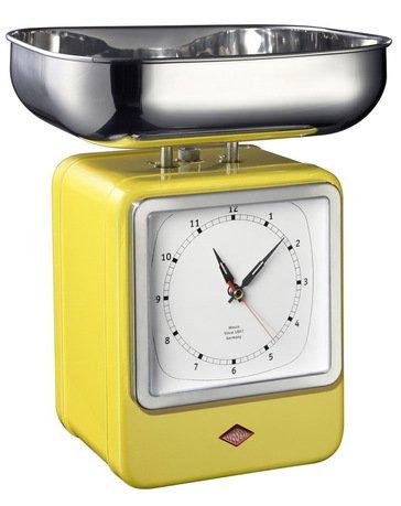 Кухонные весы-часы Retro Style, 322204-19, желтые (322204-19)