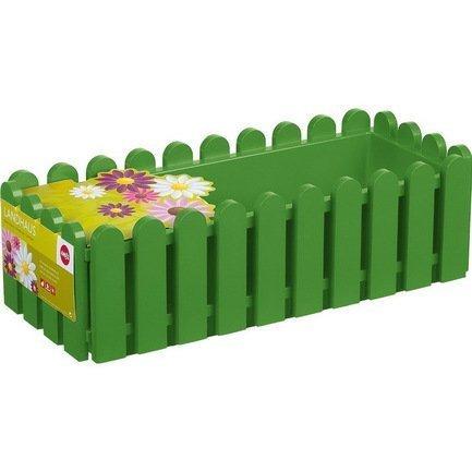Ящик балконный Landhaus, 50 см, зеленыйБалконные ящики<br>Этот оригинальный, удобный и прочный пластиковый ящик предназначен для высадки любых растений и цветов. Яркий ящик необычного дизайна позволит вам реализовать самые смелые идеи по оформлению вашего интерьера или участка около дома.  Цвет: зеленый.  Размеры (ДхШхВ): 50х20х16 см  Объем: 8 л<br><br>Серия: Landhaus