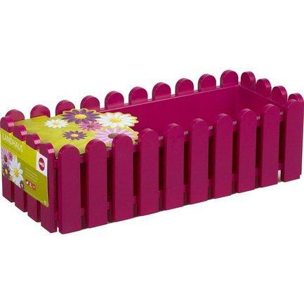 Ящик балконный Landhaus, 50 см, розовыйБалконные ящики<br>Этот оригинальный, удобный и прочный пластиковый ящик предназначен для высадки любых растений и цветов. Яркий ящик необычного дизайна позволит вам реализовать самые смелые идеи по оформлению вашего интерьера или участка около дома.  Цвет: розовый.  Размеры (ДхШхВ): 50х20х16 см  Объем: 8 л<br><br>Серия: Landhaus