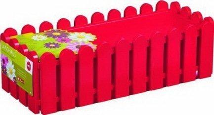 Ящик балконный Landhaus, 50 см, красныйБалконные ящики<br>Этот оригинальный, удобный и прочный пластиковый ящик предназначен для высадки любых растений и цветов. Яркий ящик необычного дизайна позволит вам реализовать самые смелые идеи по оформлению вашего интерьера или участка около дома.  Цвет: красный.  Размеры (ДхШхВ): 50х20х16 см  Объем: 8 л<br><br>Серия: Landhaus