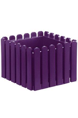 Кашпо Landhaus квадрат, 38 см, фиолетовое EMSA 508746