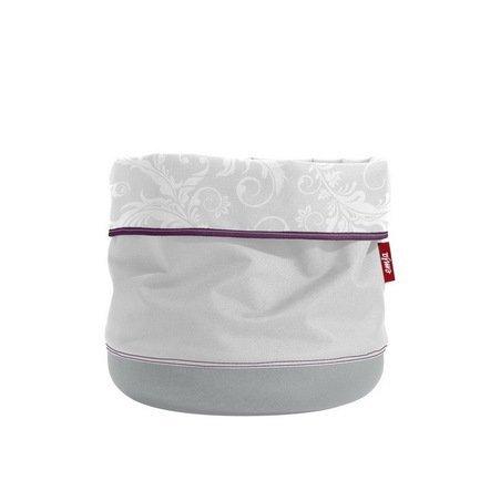 Кашпо Softbag, 25х29 см, светло-сероеКашпо<br>Это оригинальное и стильное тканевое кашпо предназначенное для украшения традиционных горшков. Верх кашпо выполнен из мягкой ткани, а нижняя часть - из влагонепроницаемого материала, исключающего протекание воды.  Цвет: светло-серый.<br><br>Серия: Softbag