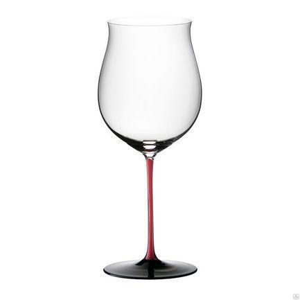 Фужер Burgundy Grand Cru (1050 мл), c красной ножкой и черным основаниемБокалы для красного вина<br>Элегантная форма бокала для красного вина отличается функциональностью. Широкое дно чаши бокала позволяет изысканному напитку раскрыть свой аромат и вкус. Именно такой бокал поможет насладиться утонченностью красного вина, сбалансированность его букета и бархатистую консистенцию.<br><br>Серия: Sommeliers Black Series