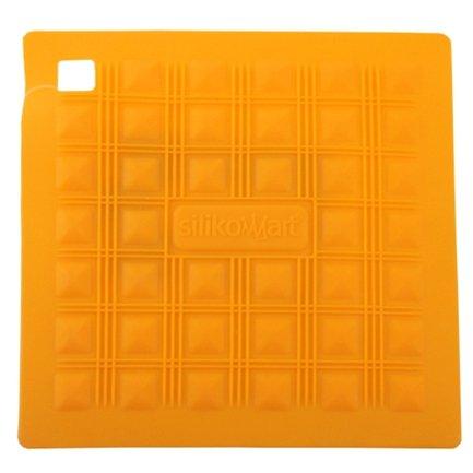 Прихватка-подставка для горячего, 17.5х17.5 см, желтая
