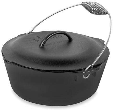 Жаровня (7 л), 30 см, со спиральной ручкой, высота 18 смЖаровни<br>В этой высокой жаровне так легко готовить ароматные блюда из тушёного мяса или рыбы, бобовых и овощей, супы, плов, суфле и другие вкусности. Эта посуда идеально подходит для духовки, в ней продукты медленно томятся, насыщаясь пряными ароматами. В этой черной чугунной жаровне готовое блюдо – горячее и дымящееся – можно сразу подавать к столу. А «изюминка» этой модели – прочная спиральная ручка вместо боковых двух – придаст вашему блюду боле аппетитный и оригинальный вид, вызывая ассоциации с давней традицией готовить в казанах. Кроме того, с дугообразной ручкой вам будет намного удобнее переносить довольно тяжелую жаровню с готовым блюдом.<br><br>Серия: Lodge Неэмалированный чугун