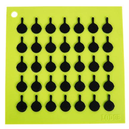 Подставка квадратная с логотипом сковороды, 19 см, зеленая