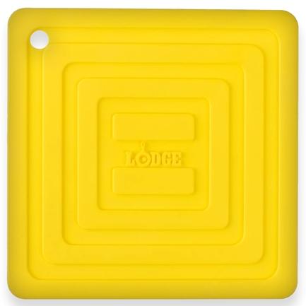 Подставка квадратная, 15 см, желтая