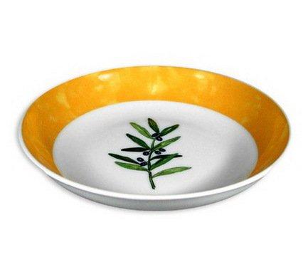 Тарелка суповая без бортика Ouliveiro Porcelaine веточки, 19 см